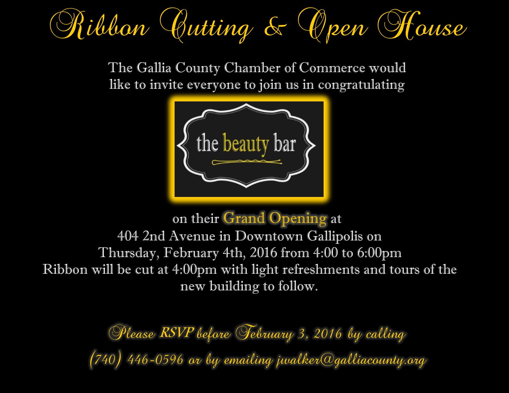Beauty Bar Ribbon Cutting Postcard