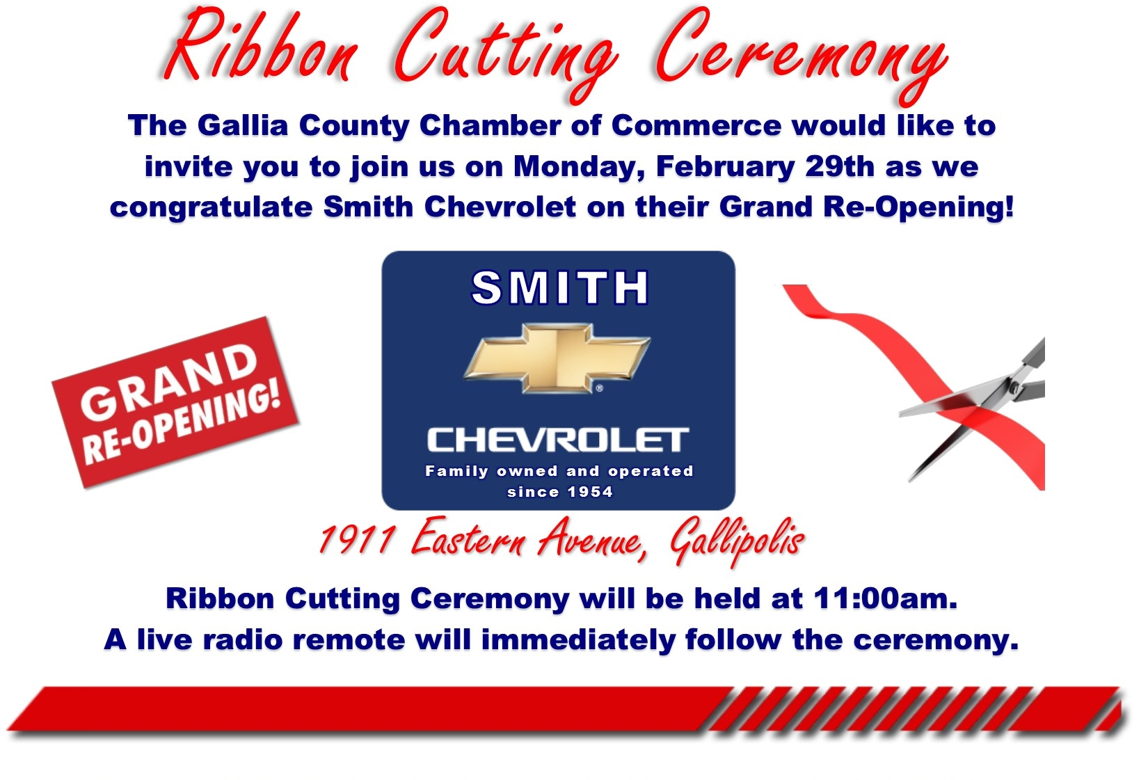 Smith Chevrolet Ribbon Cutting Postcard cropped
